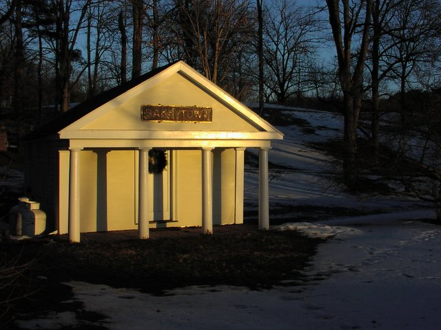 Barrytown NY Post Office at sunset